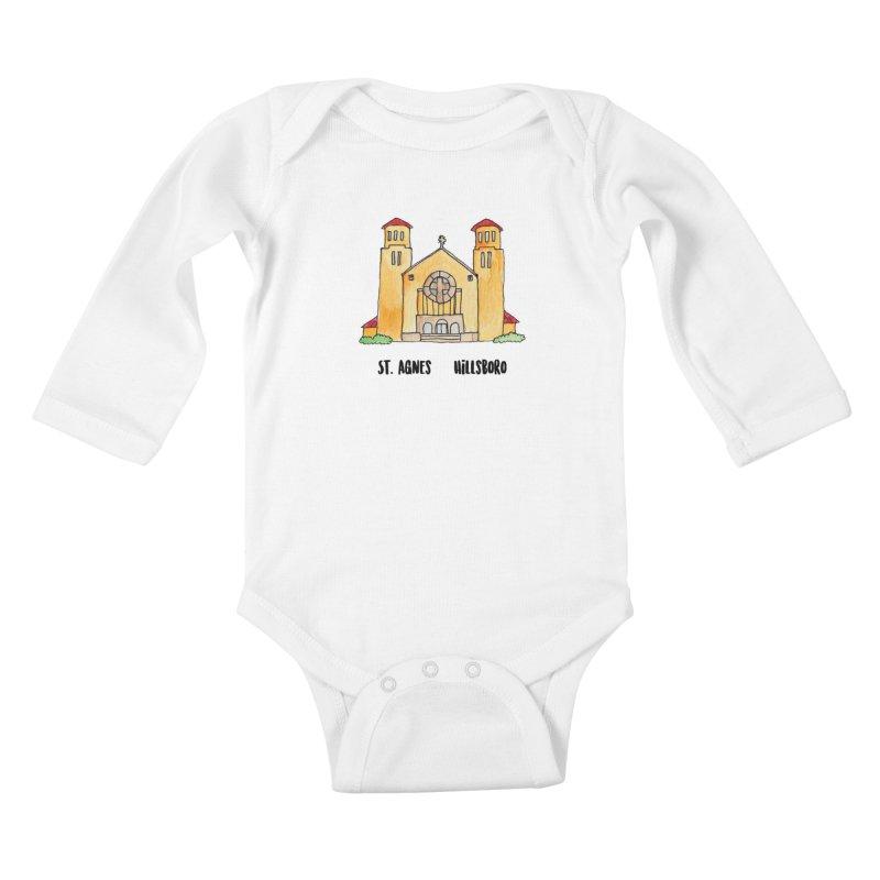 St Agnes Hillsboro Kids Baby Longsleeve Bodysuit by Jodilynn Doodles's Artist Shop