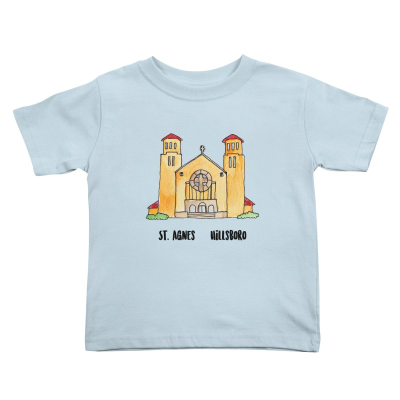 St Agnes Hillsboro Kids Toddler T-Shirt by Jodilynn Doodles's Artist Shop