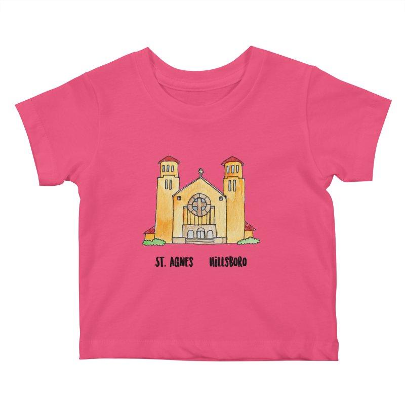 St Agnes Hillsboro Kids Baby T-Shirt by jodilynndoodles's Artist Shop