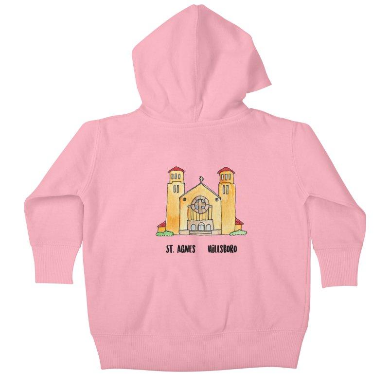 St Agnes Hillsboro Kids Baby Zip-Up Hoody by Jodilynn Doodles's Artist Shop