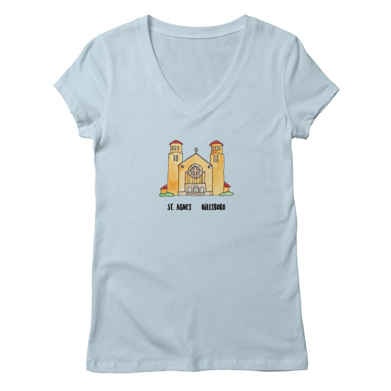 St Agnes Hillsboro Women's Regular V-Neck by jodilynndoodles's Artist Shop
