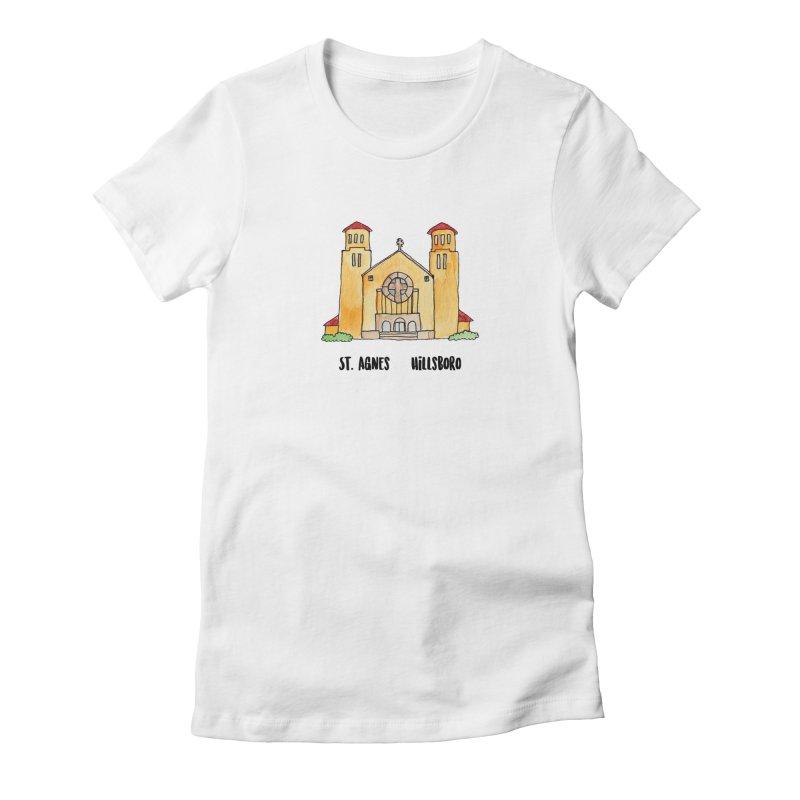 St Agnes Hillsboro Women's Fitted T-Shirt by Jodilynn Doodles's Artist Shop