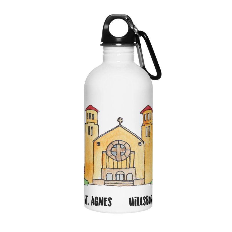 St Agnes Hillsboro Accessories Water Bottle by jodilynndoodles's Artist Shop
