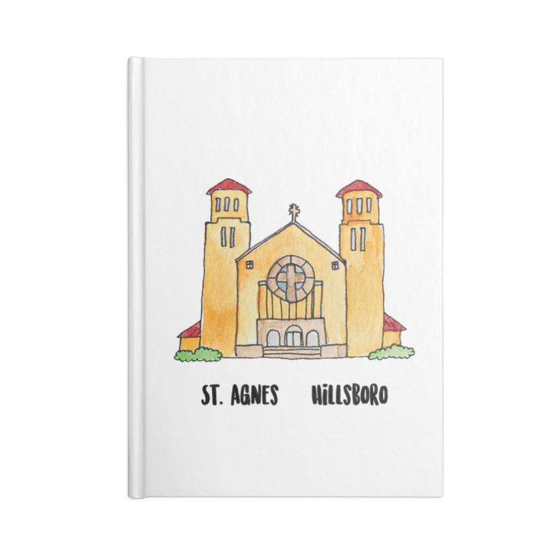 St Agnes Hillsboro Accessories Lined Journal Notebook by Jodilynn Doodles's Artist Shop