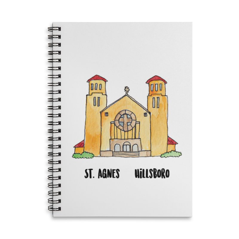 St Agnes Hillsboro Accessories Lined Spiral Notebook by Jodilynn Doodles's Artist Shop
