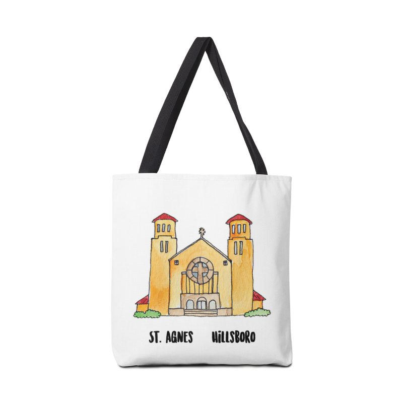 St Agnes Hillsboro Accessories Tote Bag Bag by Jodilynn Doodles's Artist Shop