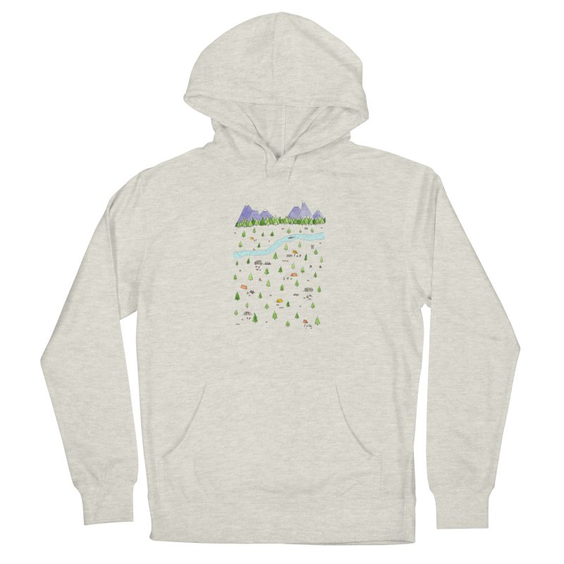 Camping Men's French Terry Pullover Hoody by Jodilynn Doodles's Artist Shop