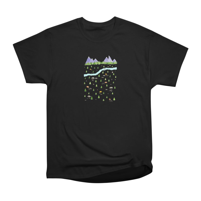 Camping Men's Heavyweight T-Shirt by Jodilynn Doodles's Artist Shop