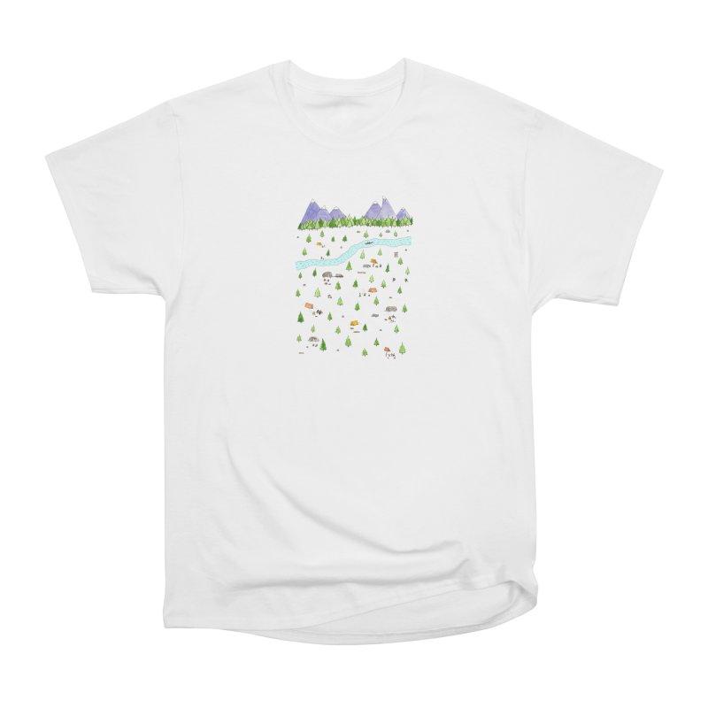 Camping Women's Heavyweight Unisex T-Shirt by Jodilynn Doodles's Artist Shop