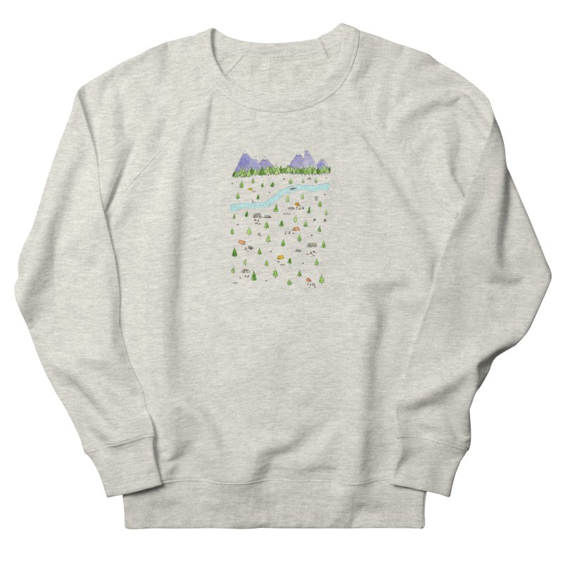 Camping Men's French Terry Sweatshirt by Jodilynn Doodles's Artist Shop