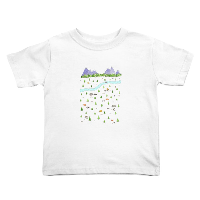 Camping Kids Toddler T-Shirt by Jodilynn Doodles's Artist Shop