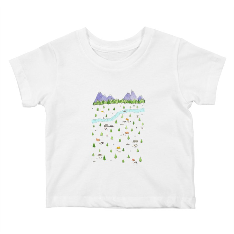 Camping Kids Baby T-Shirt by jodilynndoodles's Artist Shop