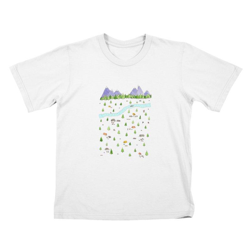 Camping Kids T-Shirt by Jodilynn Doodles's Artist Shop