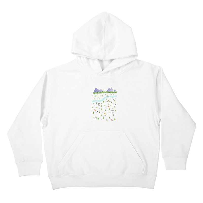 Camping Kids Pullover Hoody by jodilynndoodles's Artist Shop