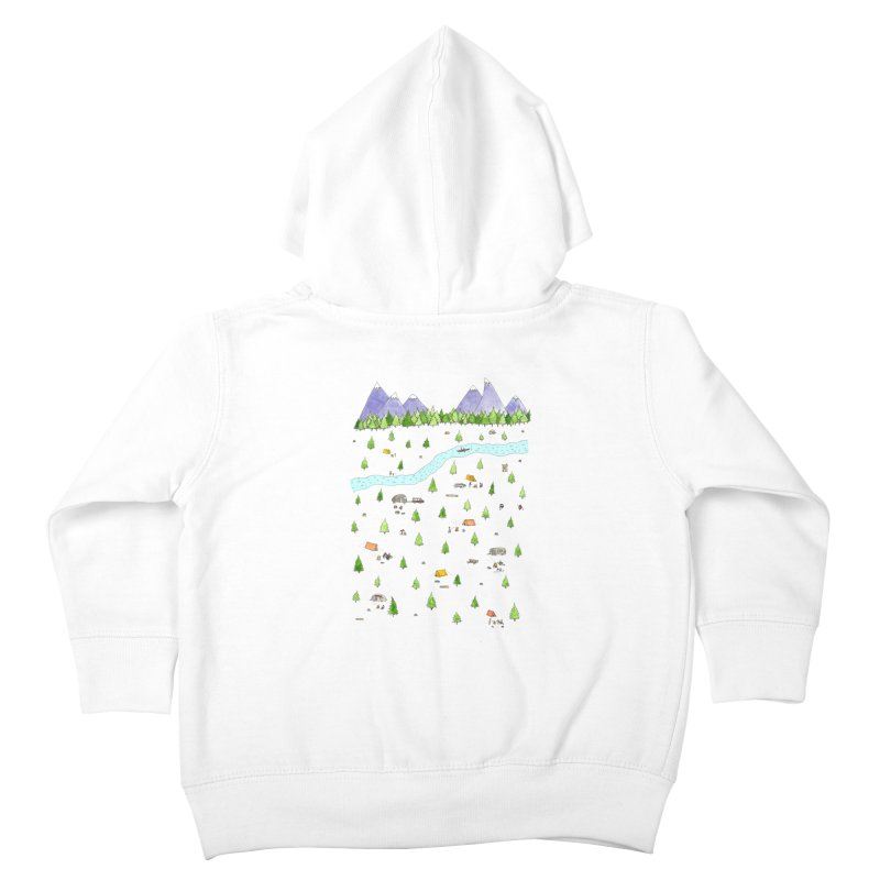 Camping Kids Toddler Zip-Up Hoody by Jodilynn Doodles's Artist Shop