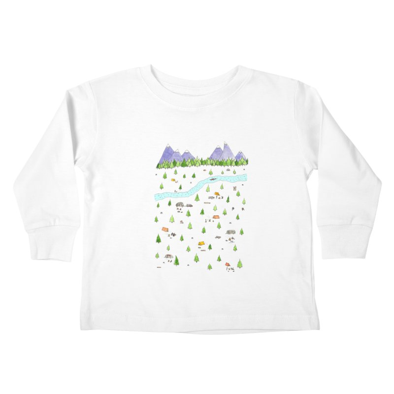 Camping Kids Toddler Longsleeve T-Shirt by jodilynndoodles's Artist Shop