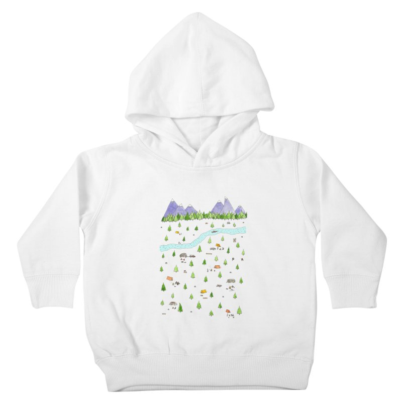 Camping Kids Toddler Pullover Hoody by Jodilynn Doodles's Artist Shop
