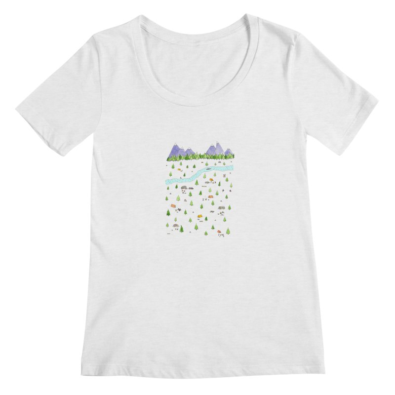 Camping Women's Regular Scoop Neck by Jodilynn Doodles's Artist Shop