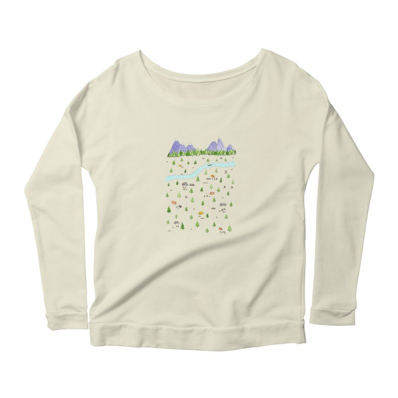 Camping Women's Scoop Neck Longsleeve T-Shirt by jodilynndoodles's Artist Shop