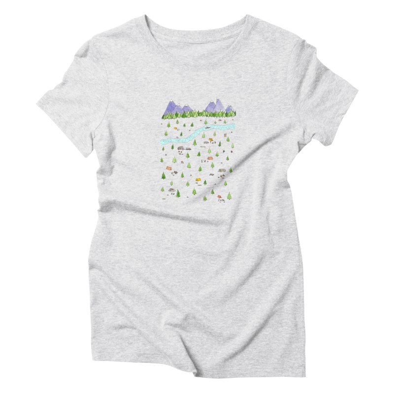 Camping Women's Triblend T-Shirt by jodilynndoodles's Artist Shop