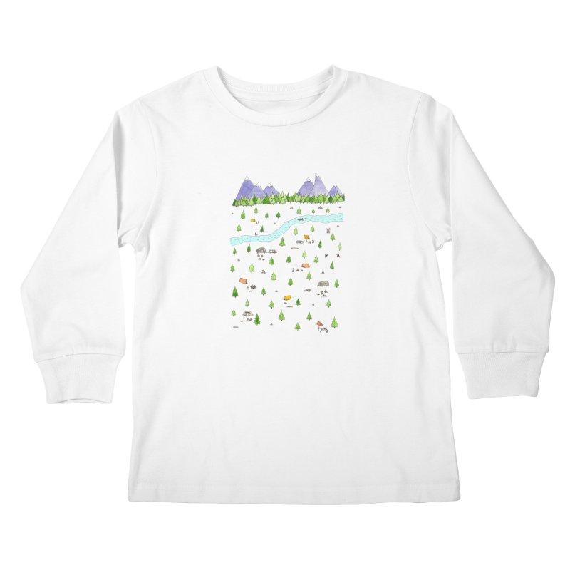 Camping Kids Longsleeve T-Shirt by Jodilynn Doodles's Artist Shop