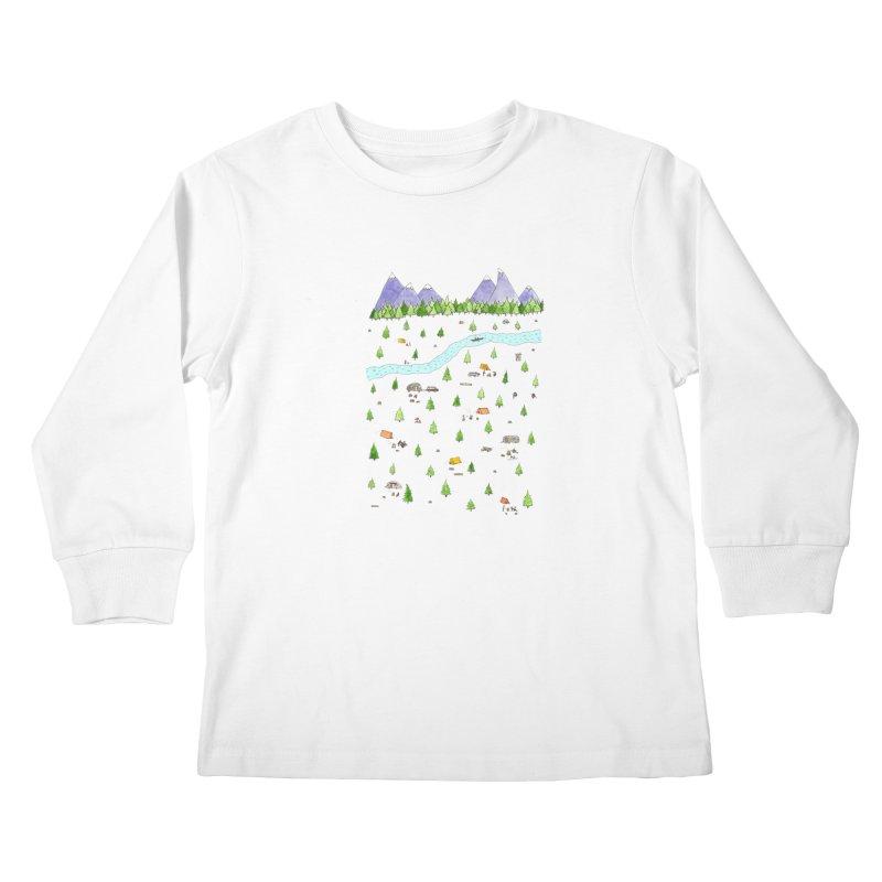 Camping Kids Longsleeve T-Shirt by jodilynndoodles's Artist Shop