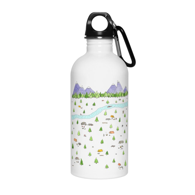 Camping Accessories Water Bottle by Jodilynn Doodles's Artist Shop