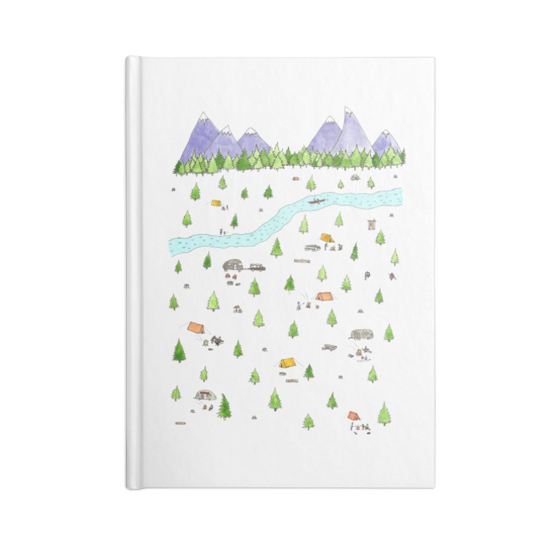Camping Accessories Lined Journal Notebook by Jodilynn Doodles's Artist Shop