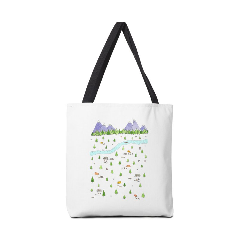 Camping Accessories Tote Bag Bag by Jodilynn Doodles's Artist Shop