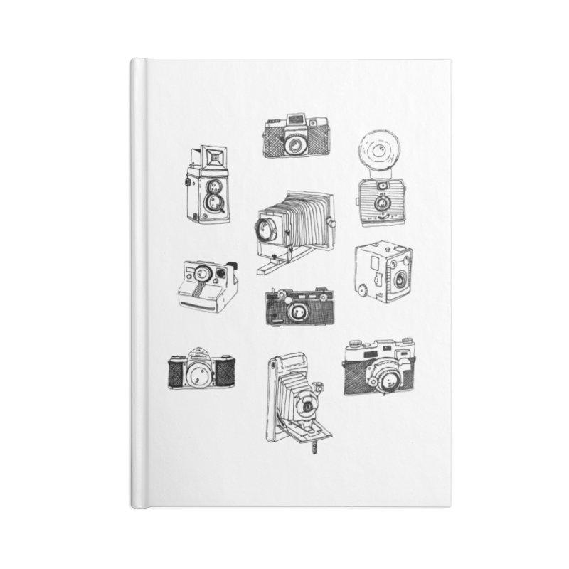 Vintage Cameras Accessories Lined Journal Notebook by Jodilynn Doodles's Artist Shop