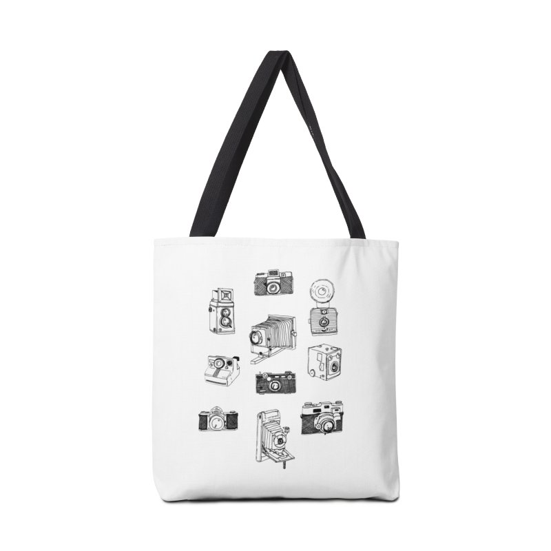 Vintage Cameras Accessories Tote Bag Bag by Jodilynn Doodles's Artist Shop