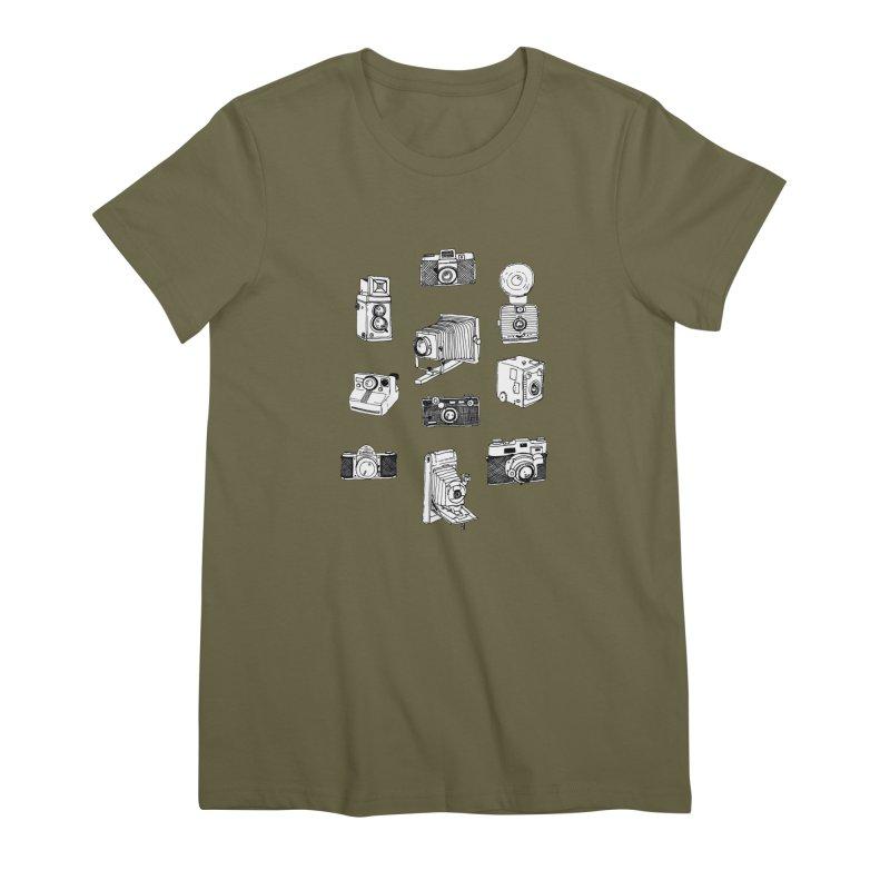Vintage Cameras Women's Premium T-Shirt by Jodilynn Doodles's Artist Shop