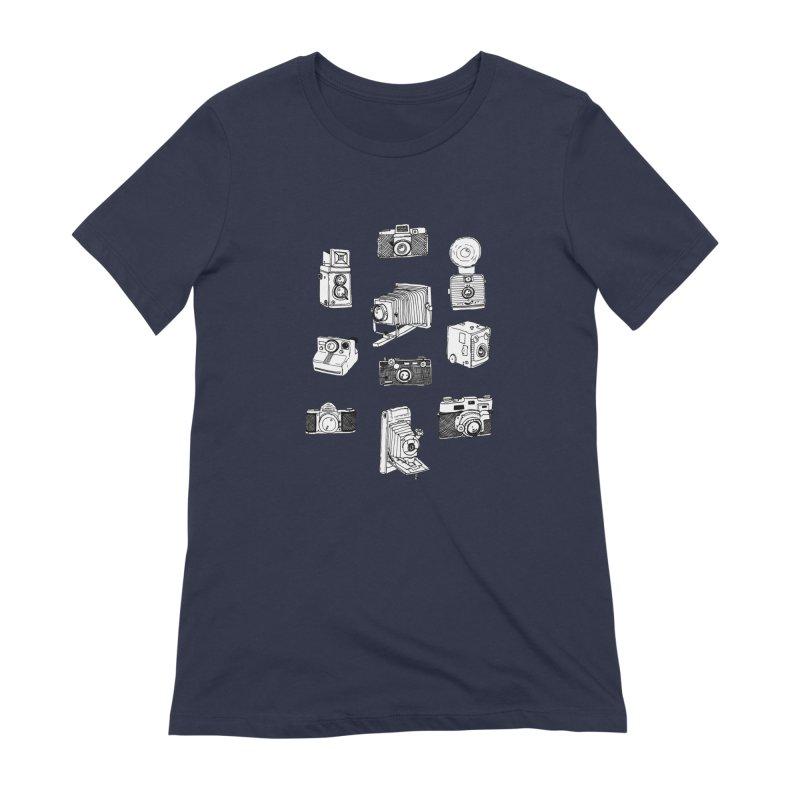 Vintage Cameras Women's Extra Soft T-Shirt by Jodilynn Doodles's Artist Shop