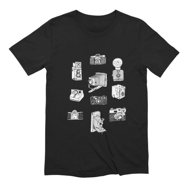 Vintage Cameras Men's Extra Soft T-Shirt by jodilynndoodles's Artist Shop
