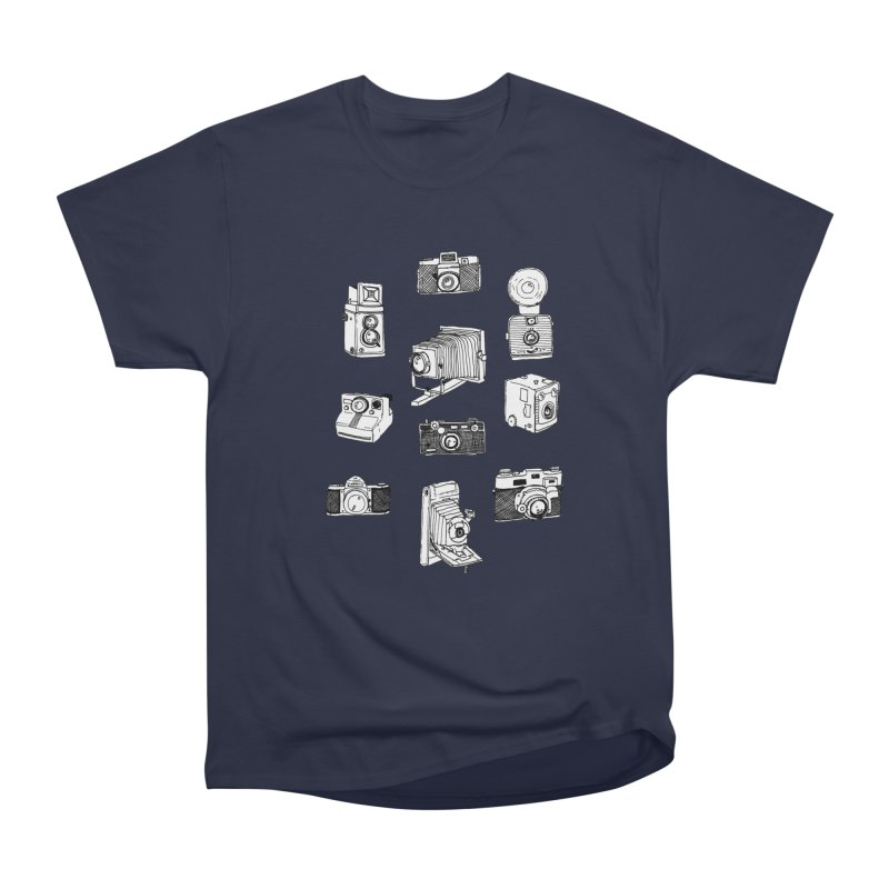 Vintage Cameras Men's Heavyweight T-Shirt by Jodilynn Doodles's Artist Shop