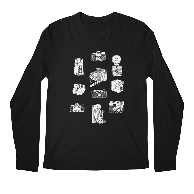 Vintage Cameras Men's Regular Longsleeve T-Shirt by jodilynndoodles's Artist Shop