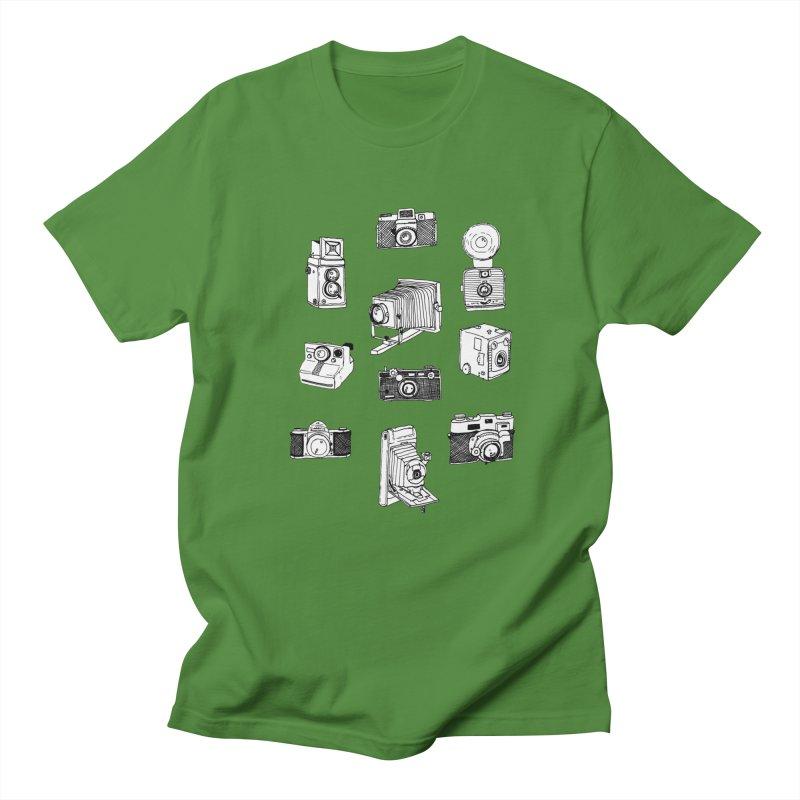 Vintage Cameras Men's Regular T-Shirt by Jodilynn Doodles's Artist Shop