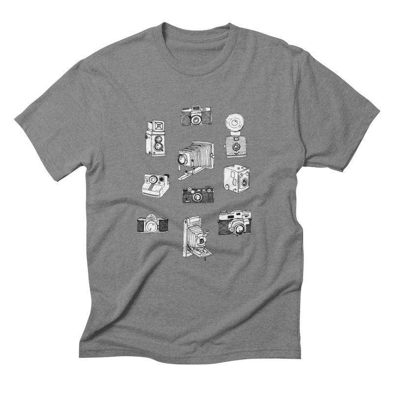 Vintage Cameras Men's Triblend T-Shirt by Jodilynn Doodles's Artist Shop