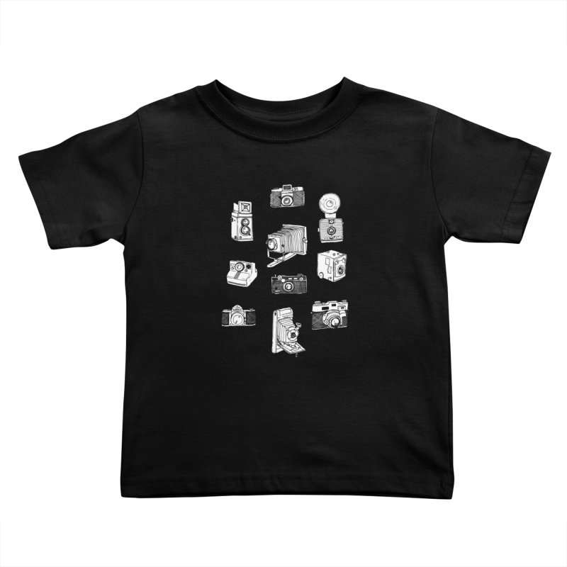 Vintage Cameras Kids Toddler T-Shirt by Jodilynn Doodles's Artist Shop