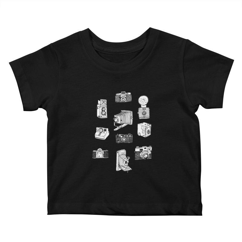 Vintage Cameras Kids Baby T-Shirt by Jodilynn Doodles's Artist Shop