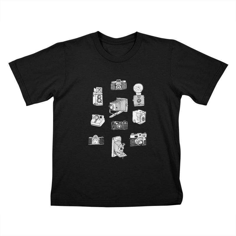 Vintage Cameras Kids T-Shirt by Jodilynn Doodles's Artist Shop