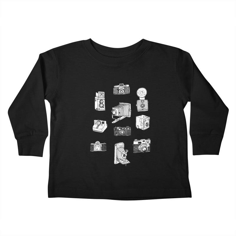 Vintage Cameras Kids Toddler Longsleeve T-Shirt by jodilynndoodles's Artist Shop
