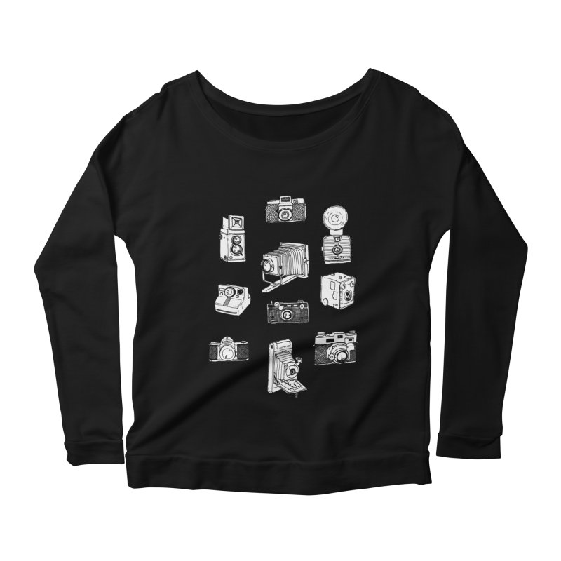 Vintage Cameras Women's Scoop Neck Longsleeve T-Shirt by jodilynndoodles's Artist Shop