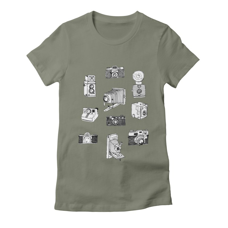 Vintage Cameras Women's Fitted T-Shirt by jodilynndoodles's Artist Shop