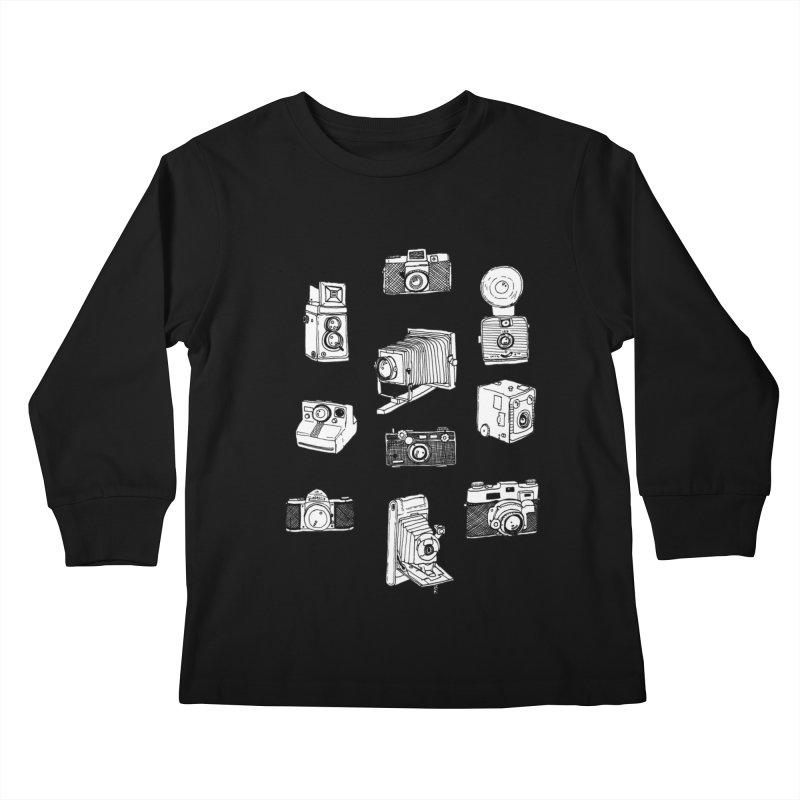 Vintage Cameras Kids Longsleeve T-Shirt by jodilynndoodles's Artist Shop