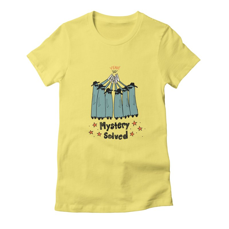 Mystery Solved! Women's Fitted T-Shirt by Jodilynn Doodles's Artist Shop