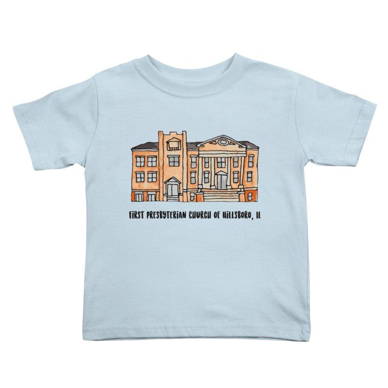 First presbyterian church Kids Toddler T-Shirt by Jodilynn Doodles's Artist Shop