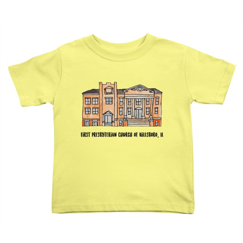 First presbyterian church Kids Toddler T-Shirt by Jodilynn Doodles's Artist Shop