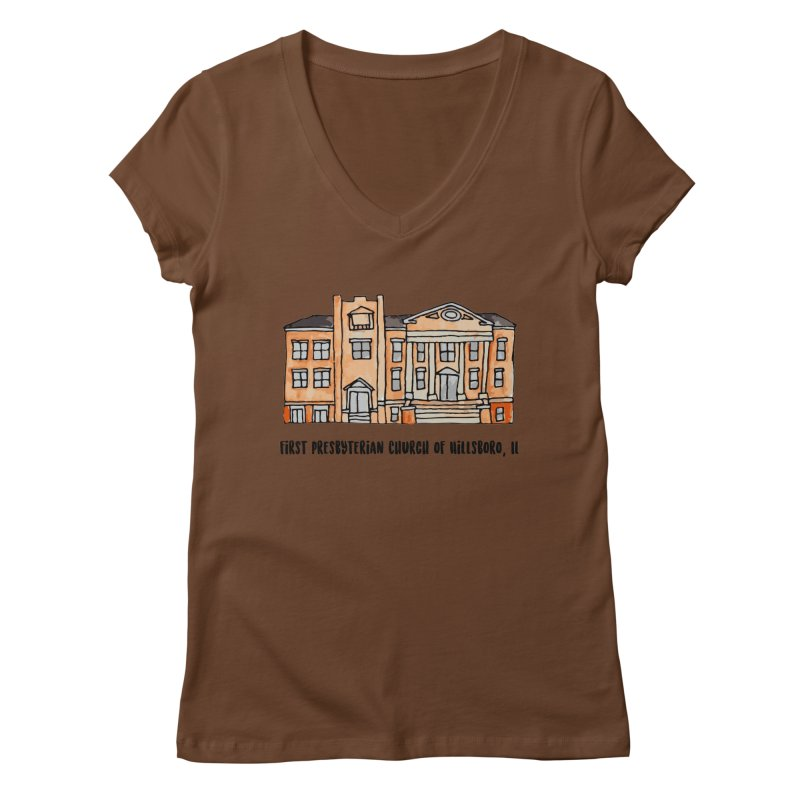 First presbyterian church Women's Regular V-Neck by jodilynndoodles's Artist Shop