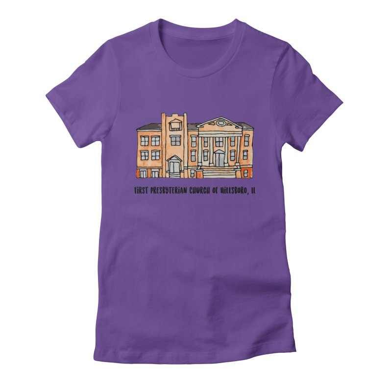 First presbyterian church Women's Fitted T-Shirt by jodilynndoodles's Artist Shop